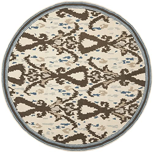 Safavieh Martha Stewart Collection MSR4553B Handmade Premium Wool Clove Area Rug 8 Diameter