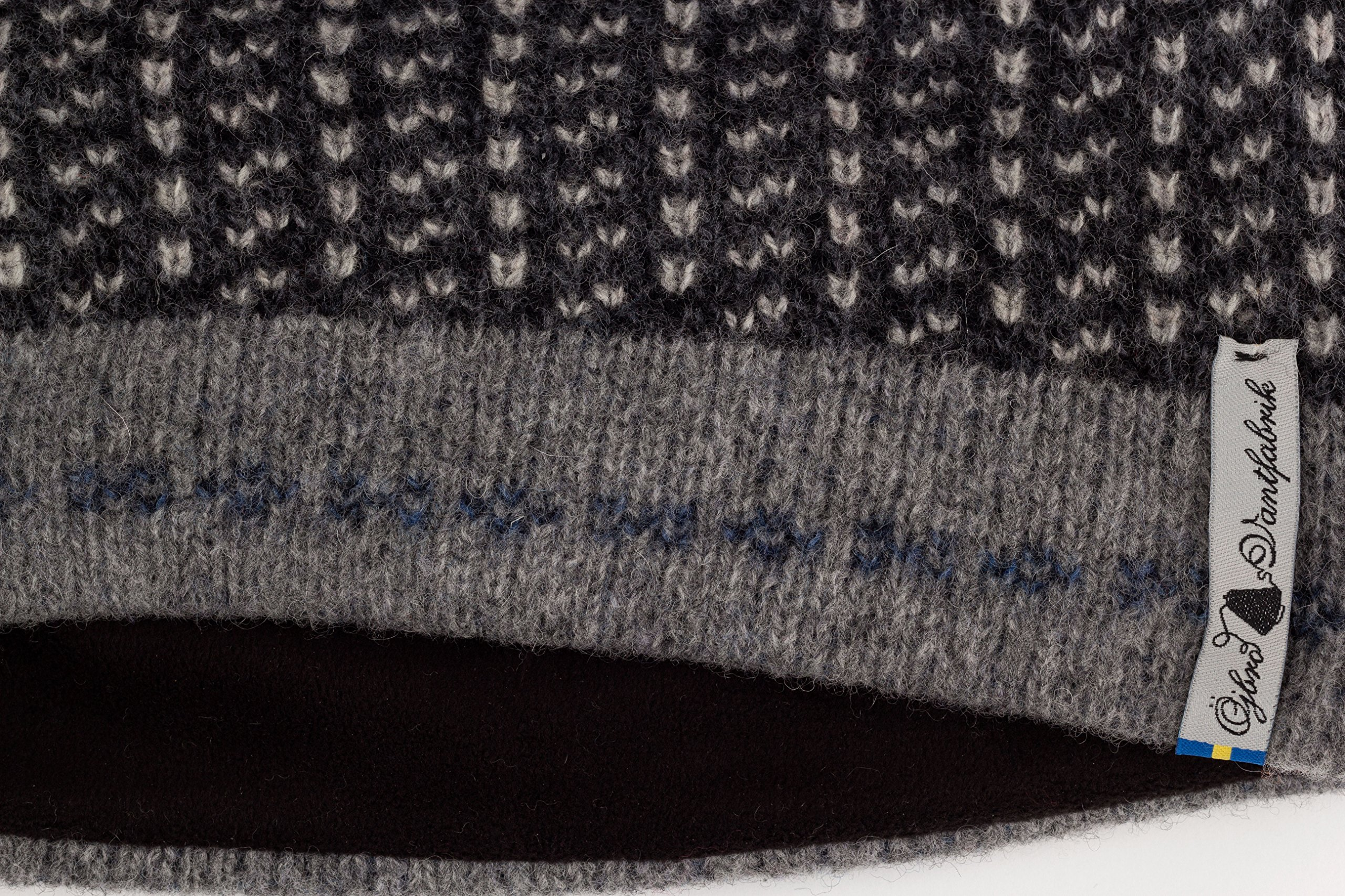 Swedish 100% Merino Wool Warm Soft and Thick Beanie Hat Cap (Skaftö Sot) by ÖJBRO VANTFABRIK (Image #2)