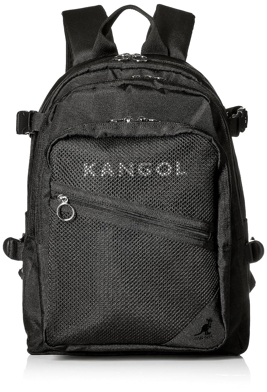 [カンゴール] リュック KANGOLロゴプリントベルト メッシュポケット型 250-4711 B077VH1CK9  ブラック
