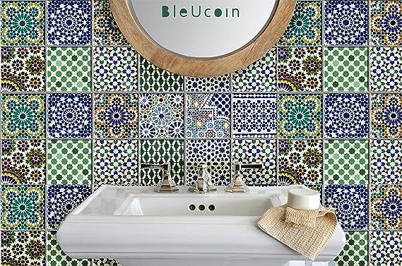 Charmant Marokkanische Fliesen Aufkleber Für Küche Badezimmer Backsplash, Abnehmbare  Treppen Riser Abziehbild, Schale Und Stick
