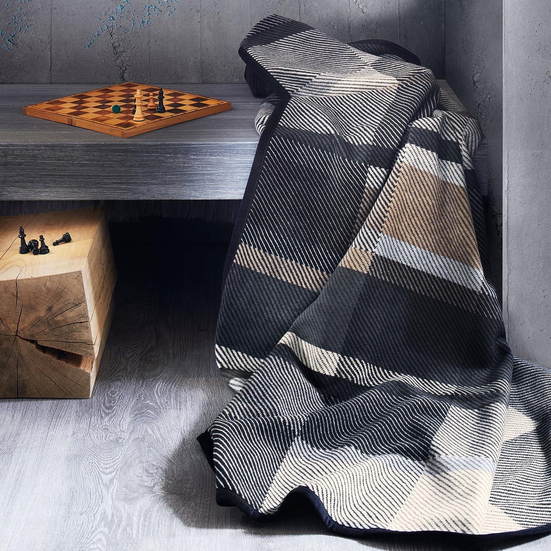 Jacquard Decke bugatti, dunkelbraun - 150 x 200 cm