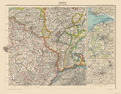 Map Of North France.Amazon Com Maps Of The Past International Map North East France