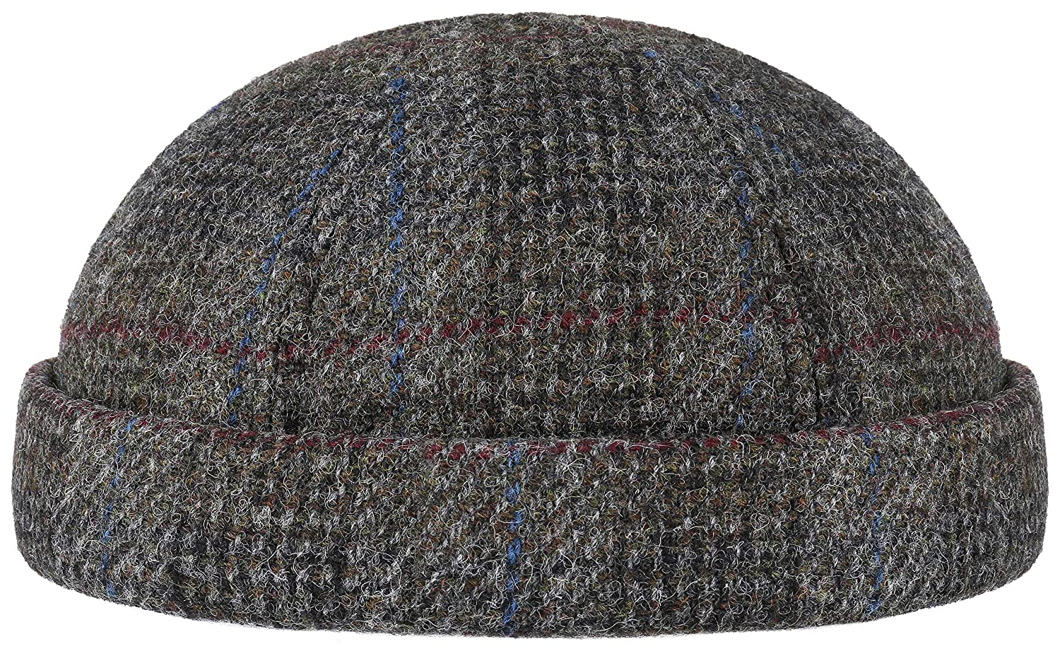 Stetson - Docker Harris Tweed Virgin Wool Check - Mod.8820301 - für Herbst Winter und Frühling - Cap - Headset Starre - Zwei Farben - Original - Wonderful