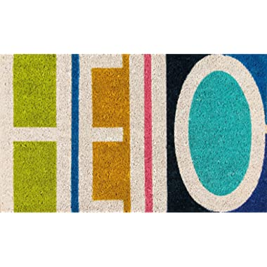 Novogratz Aloha Collection Hello Doormat, Multi, 1'6  x 2'6 , Multicolor