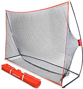 GoSports Golf Practice Hitting Net | Choose Between Huge 10' x 7' or 7' x 7' Nets | Personal Driving Range for Indoor or Outdoor Use | Designed by Golfers for Golfers