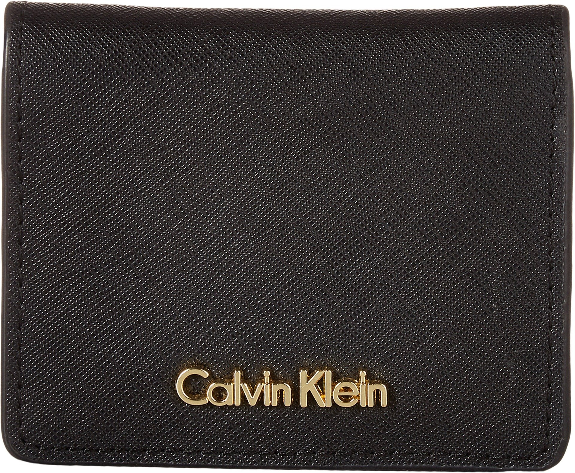 Calvin Klein Key Item Small Flap Saffiano Wallet black/Gold, One Size