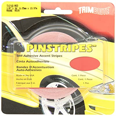 Trimbrite T1218 Trim Stripe Red 1/4 Tape: Automotive