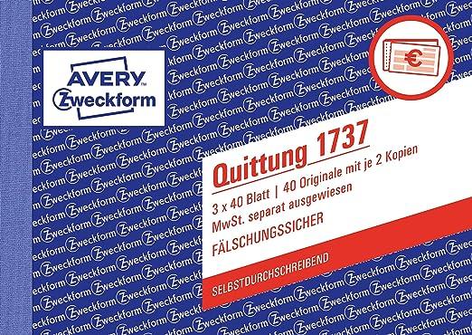 5x QUITTUNGSBLOCK 2x40 Blatt Quittungen Quittung DIN A6 Blöcke Quittungsblöcke H