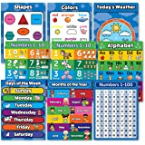 Amazon.com : 8 Educational Wall Posters For Toddlers - ABC ...