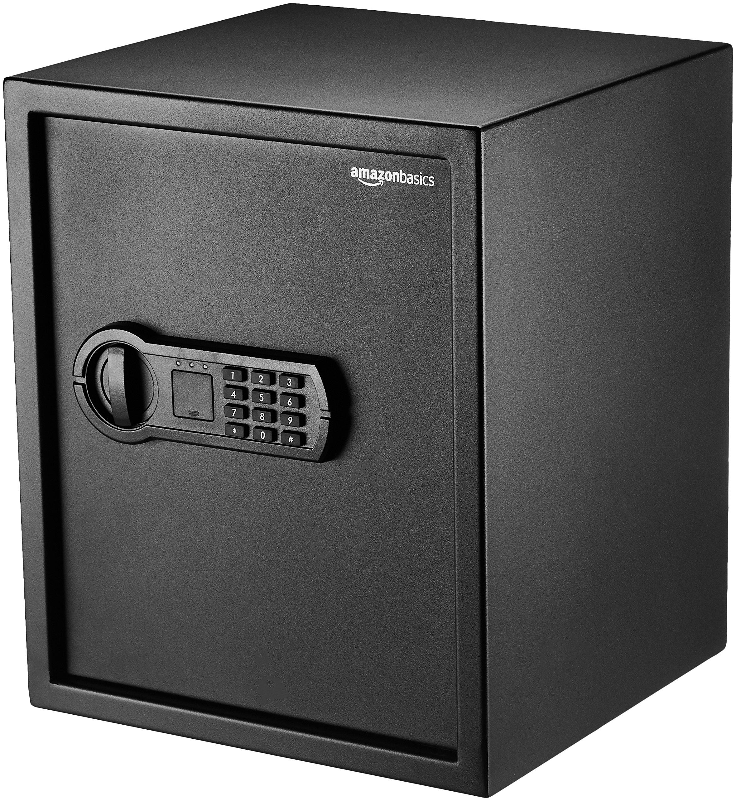 AmazonBasics Home Keypad Safe - 1.52 Cubic Feet, 13.8 x 13 x 16.5 Inches, Black by AmazonBasics