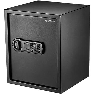 AmazonBasics Home Keypad Safe - 1.52 Cubic Feet, 13.8 x 13 x 16.5 Inches, Black