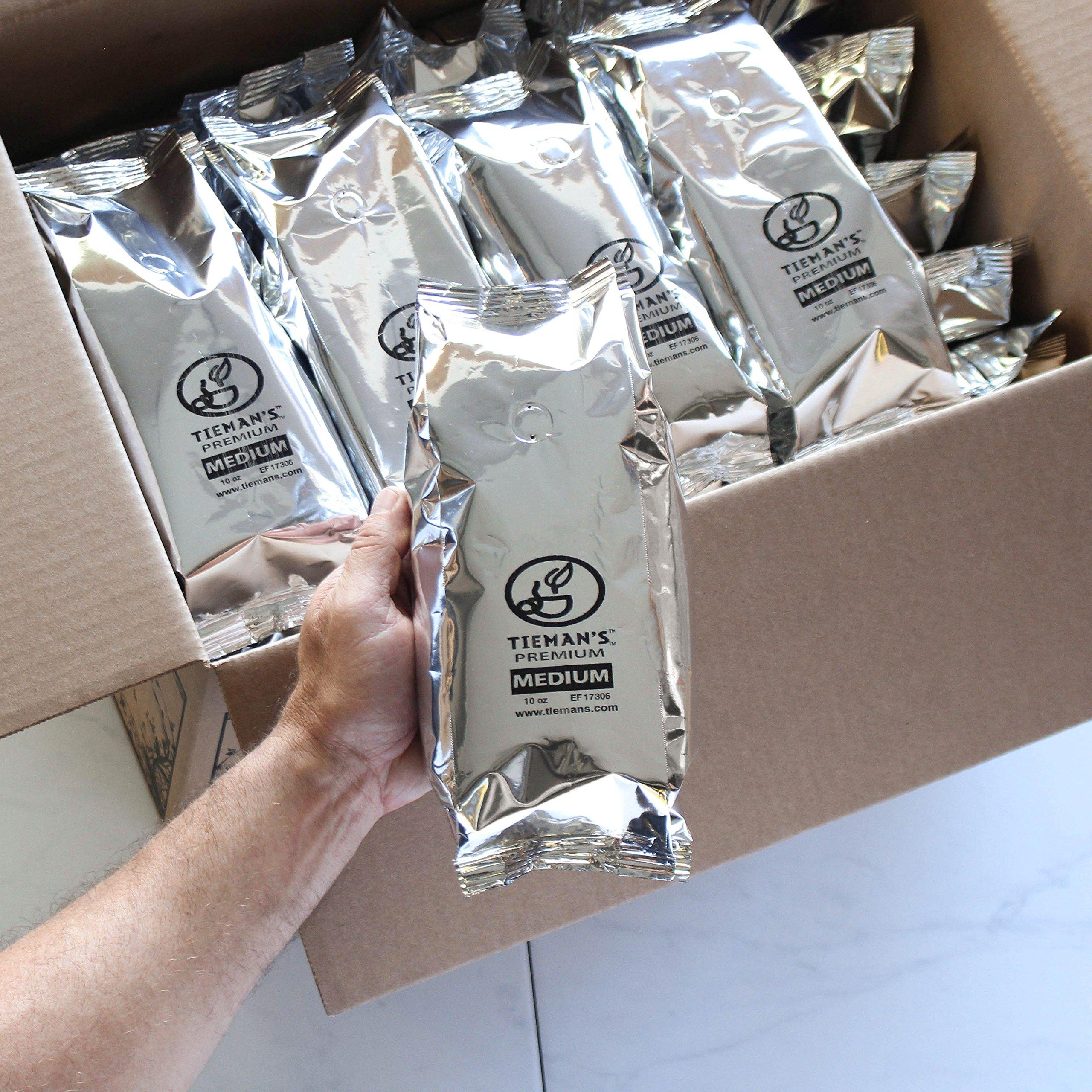 Tieman'S Fusion Coffee, Low Acid Medium Roast, Ground, 10-Ounce bag (30 Pack)