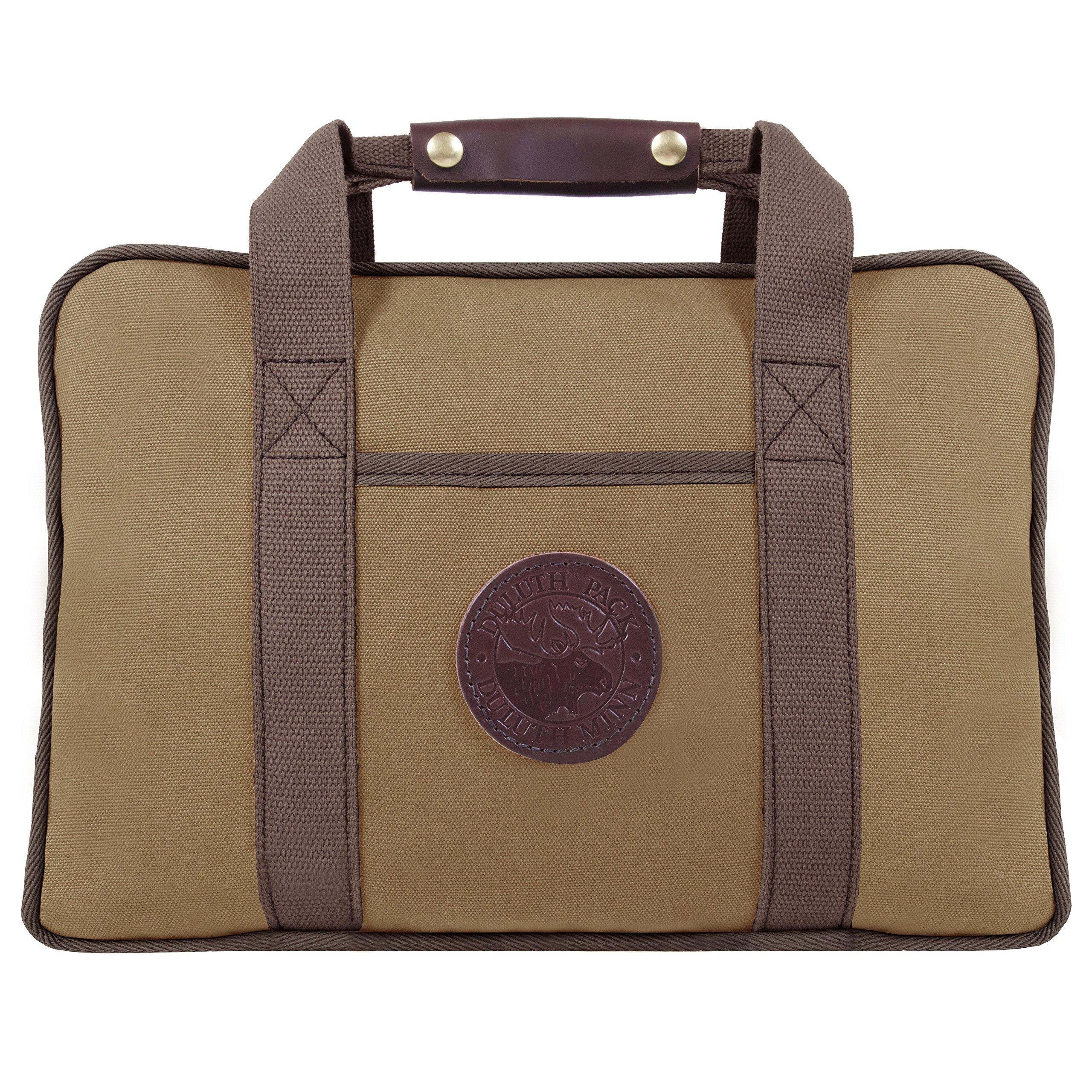 Duluth Pack Safari Portfolio Briefcase, Tan, 11 x 16 x 4-Inch