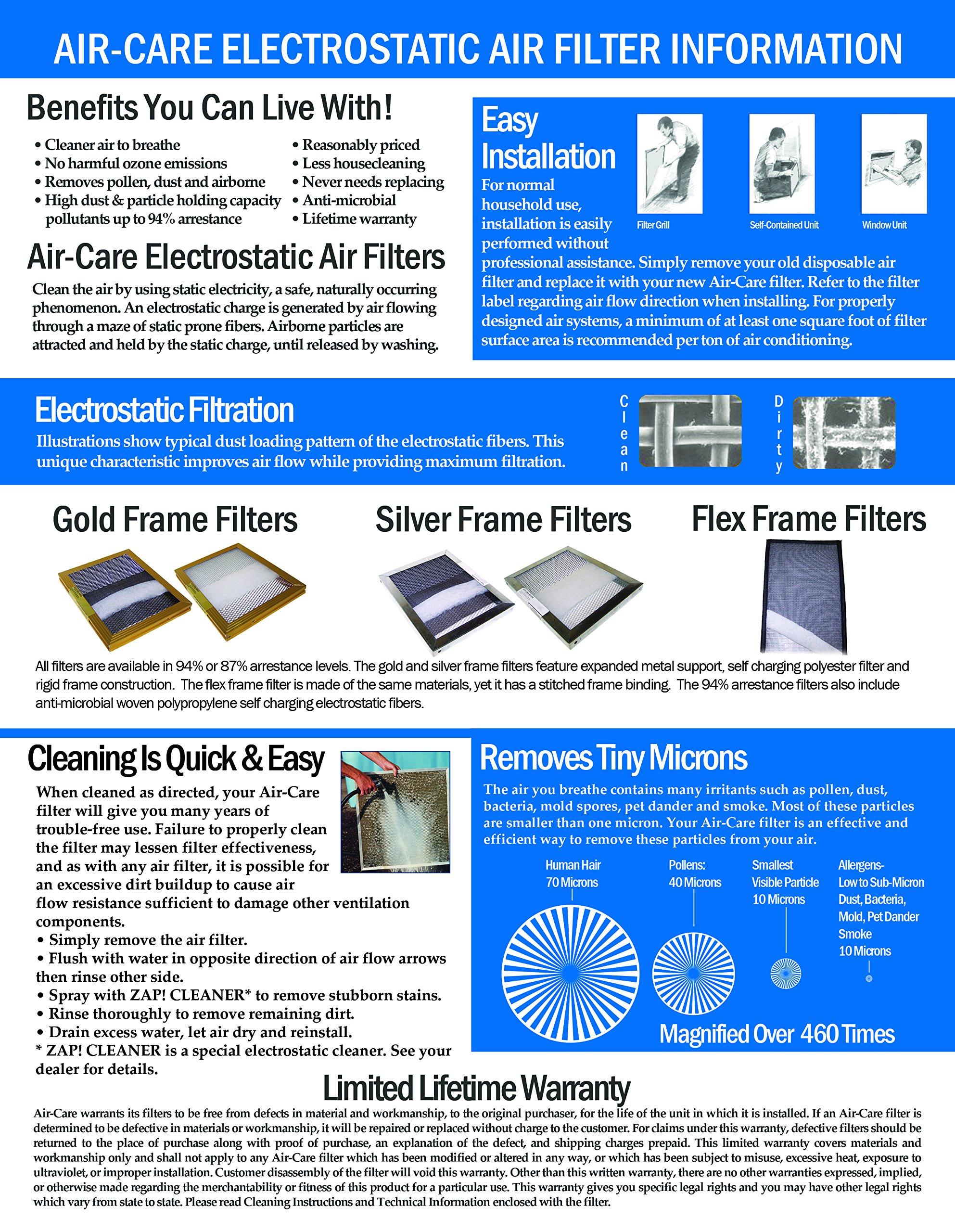 18x20x1 Lifetime Warranty Electrostatic AC Furnace Air Filter Permanent Washable
