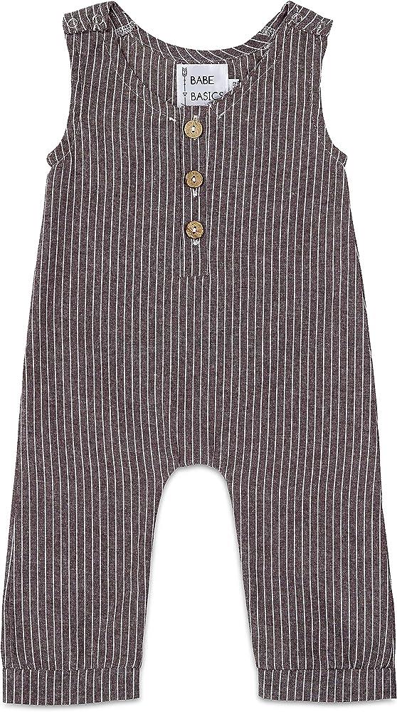 Amazon.com: Babe Basics - Pelele de lino para bebé | Pelele ...