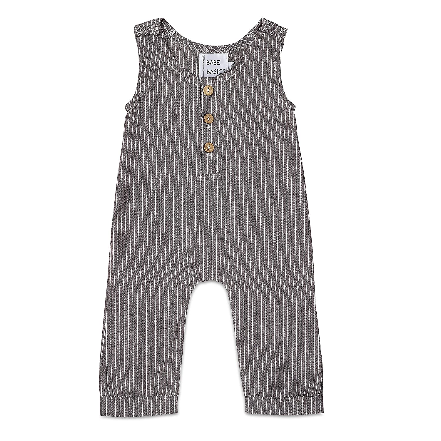 Babe Basics Linen Baby Romper | Baby Boy Fall Romper | Fall Photoshoot Outfit