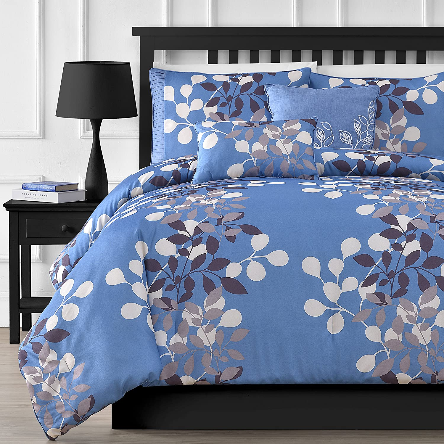 Comfy Bedding Flower Jacquard Microfiber 5-Piece Comforter Set