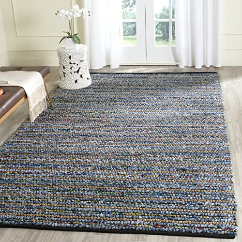Safavieh Cape Cod Collection CAP364A Hand Woven Multi and Natural Jute and Cotton Area Rug 8' x 10'