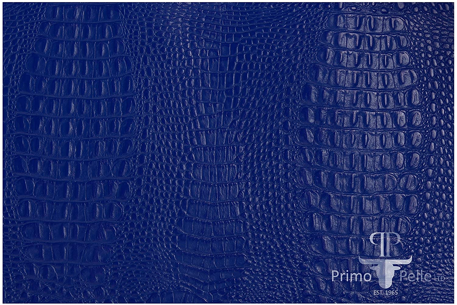 PRIMO PELLE leather hides, CROCODILE Collection, genuine full grain embossed cow skins! various colors & sizes. [12' × 24' = 2 sq ft, BLUE] genuine full grain embossed cow skins! various colors & sizes. [12 × 24 = 2 sq ft Primo Pelle Ltd