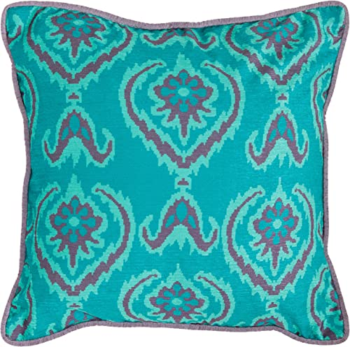 Safavieh Pillow Collection Throw Pillows, 22 by 22-Inch, Alpine Blue, Set of 2