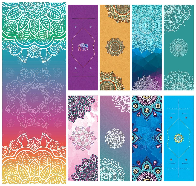 yoohome Yoga Towel Diamond Shape Non-Slip Microfiber Ultralight Ultrathin Soft-Perfect Absorb Sweat