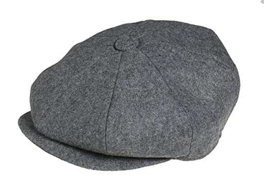Peaky Blinders 8 Piece  Newsboy  Style Flat Cap -100% Wool  Amazon ... f7505630700