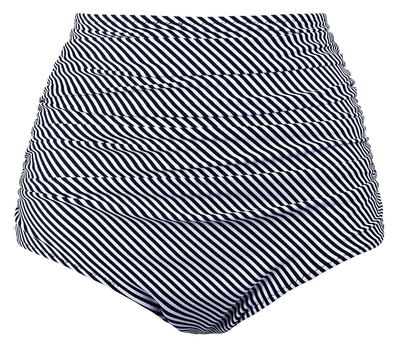 Angerella SWIMWEAR レディース B06XBMCWF3 US 6-8=Tag Size L|Black(stripe)