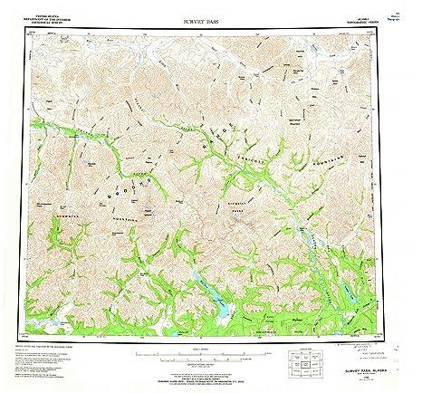 Amazoncom Survey Pass AK Topo Map Scale X Degree - Alaska topo maps