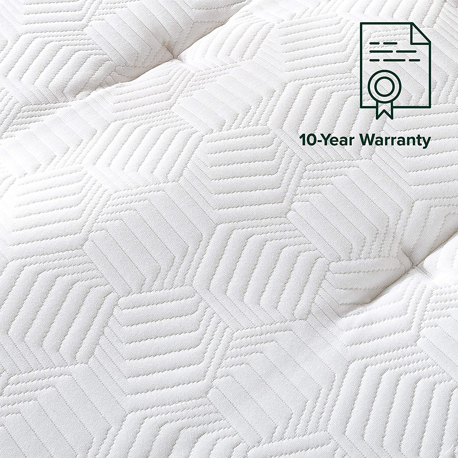 ZINUS 12 Inch Euro Top Pocket Spring Hybrid Mattress / Pressure Relief / Pocket Innersprings for Motion Isolation / Bed-in-a-Box, Queen: Furniture & Decor