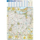 """Ohio State Wall Map - 20.75"""" x 31.25"""" Paper"""