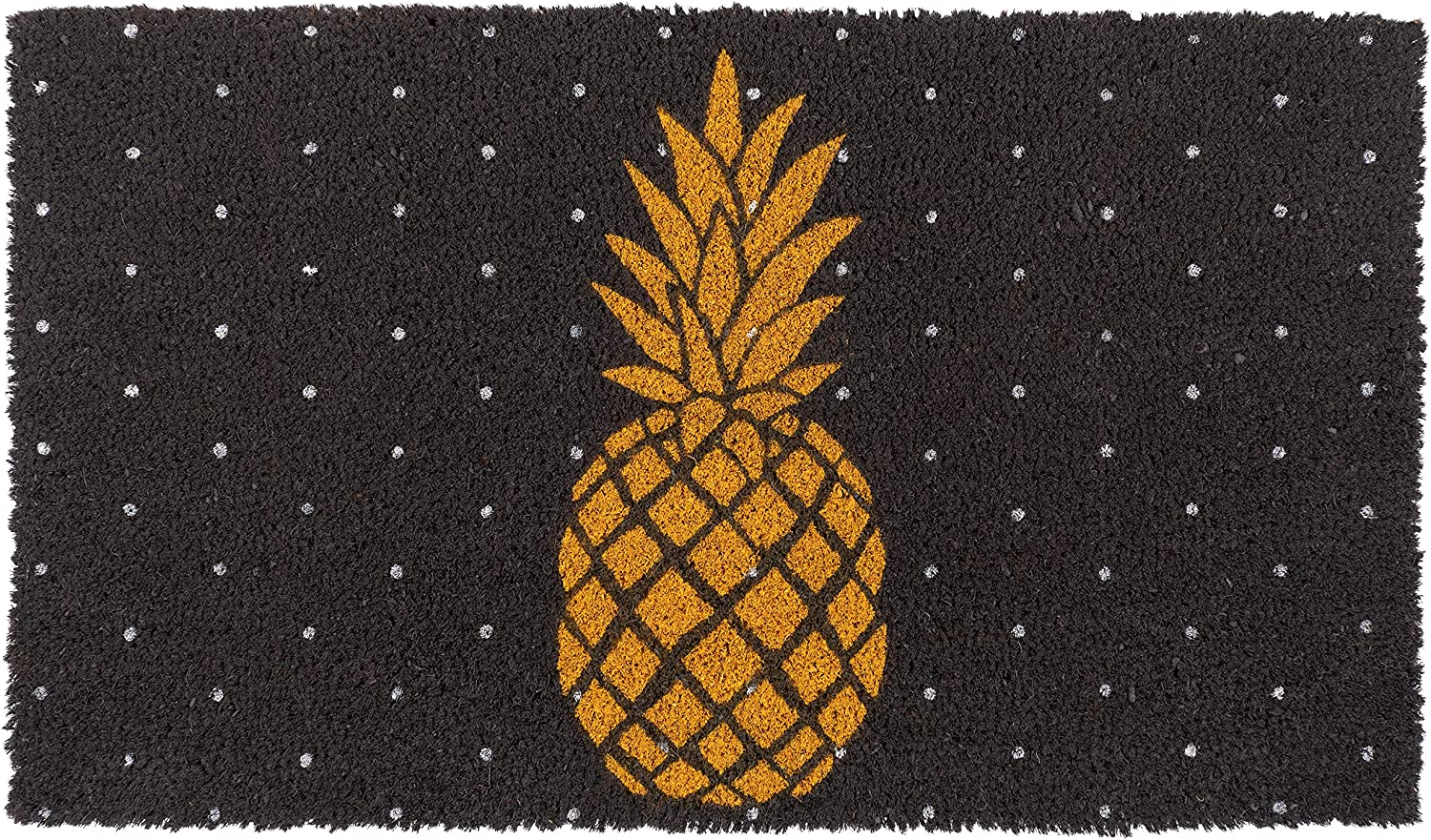 New KAF Home Coir Doormat with Heavy-Duty, Weather Resistant, Non-Slip PVC Backing | 17 by 30 Inches, 0.6 Inch Pile Height | Perfect for Indoor and Outdoor Use (Pineapple)
