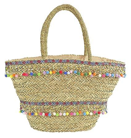 nuovo arriva migliore online stile alla moda Camomilla Milano-borsa paglia mare Fiesta: Amazon.it: Bellezza