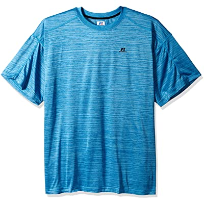 Russell Athletic Men's Big and Tall Ss Dripower Heather Crew at Men's Clothing store