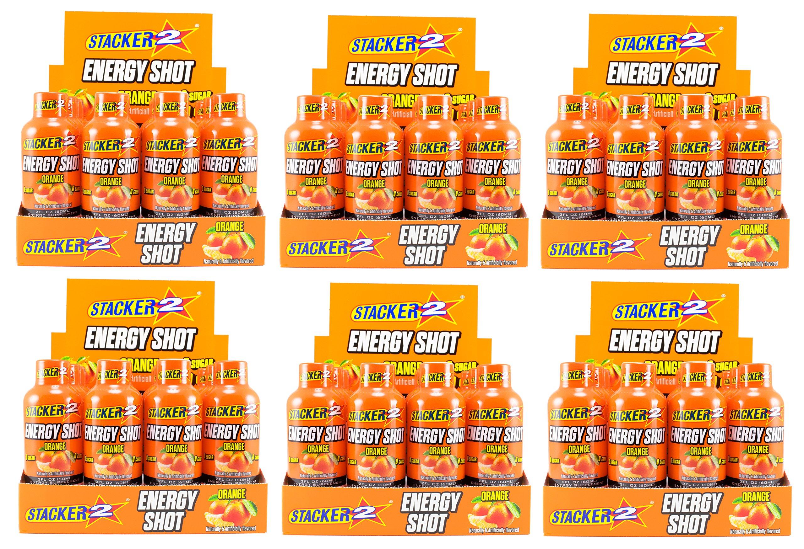 Stacker 2 Energy Shots, Orange Flavor 12pk (6)