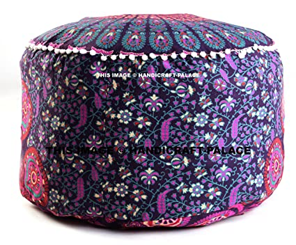 Home, Furniture & Diy Large Ombre Mandala Ottoman Pouf Ethnic Round Pouf Footstool Floor Pouf Cover And To Have A Long Life. Furniture