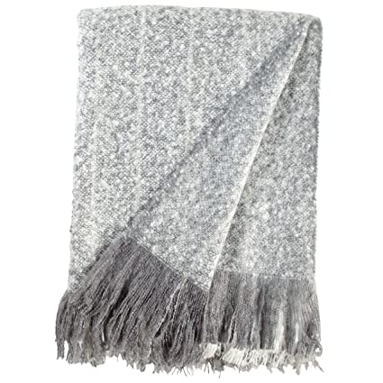 Amazon Rivet Oversized Ombre Stripe Brushed Weave Throw Blanket Awesome Grey And White Throw Blanket