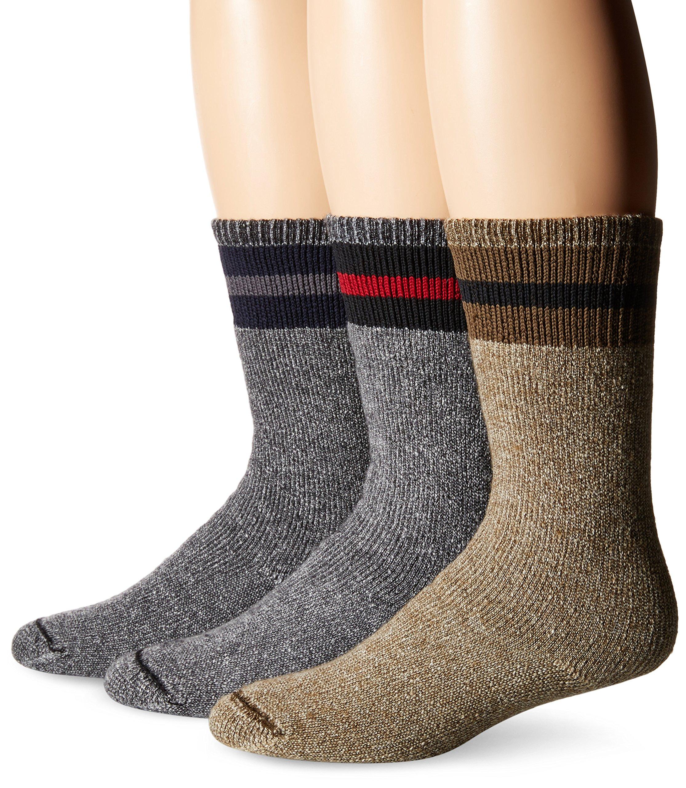 Wigwam Men's American Wool Boot Sock,Navy/Grey/Brown/Black/Red,Medium/shoe Size : Men's 5-9.5,Women's 6-10