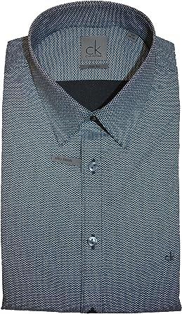 Calvin Klein - Camisa para hombre de corte ajustado shadow Tamaño del collar: 42 (Talla Del Fabricante: 40): Amazon.es: Ropa y accesorios