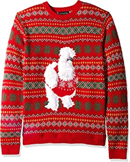 Blizzard Bay Men's Black Rooster Ugly Christmas Sweater