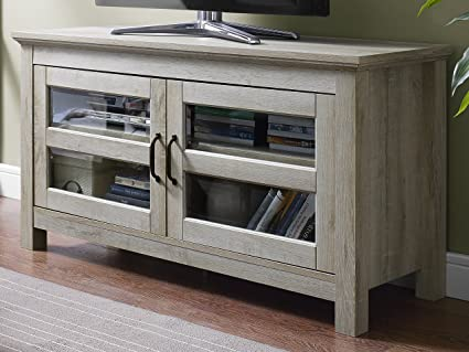 High Quality WE Furniture 44u0026quot; Wood TV Media Stand Storage Console   White Oak