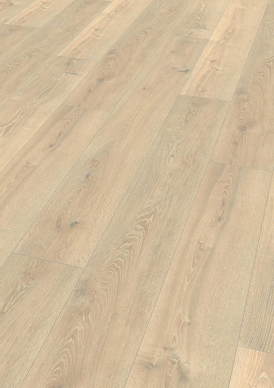Klick Laminatboden Bodenbelag extra lange Diele Luena Eiche natur  EHL115 EGGER Home Laminat braun Holzoptik Langdiele 10mm, 2,511 m/²