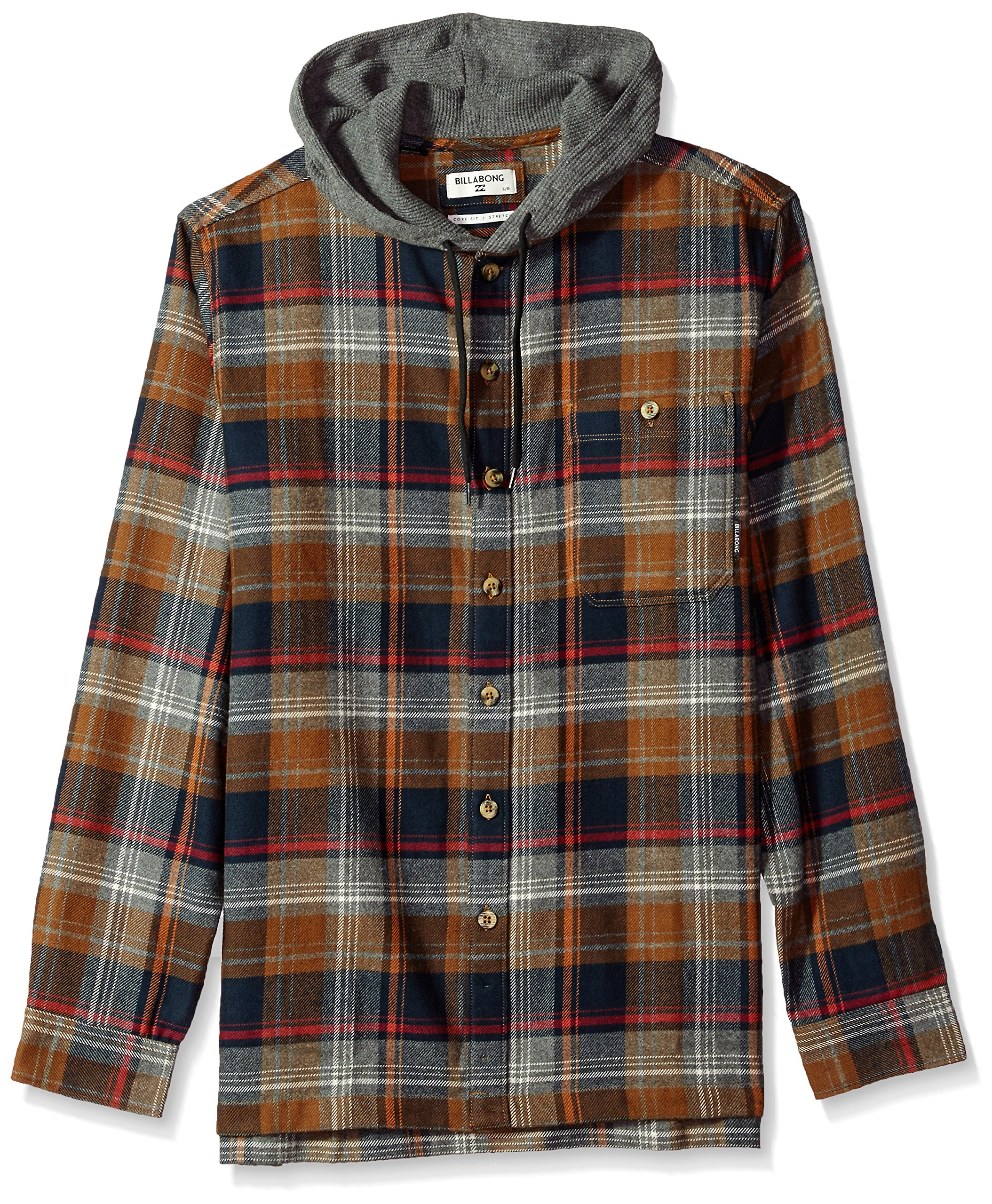 Billabong Men's Baja Flannel, Tobacco S