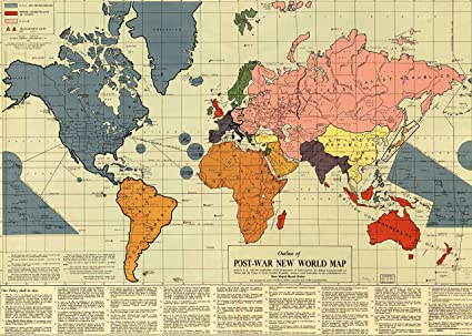 Amazon peel n stick poster of map of outline of post war new peel n stick poster of map of outline of post war new world gumiabroncs Gallery