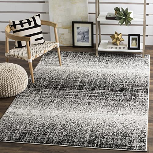 Safavieh Adirondack Collection ADR116A Silver and Black Modern Abstract Area Rug 4 x 6