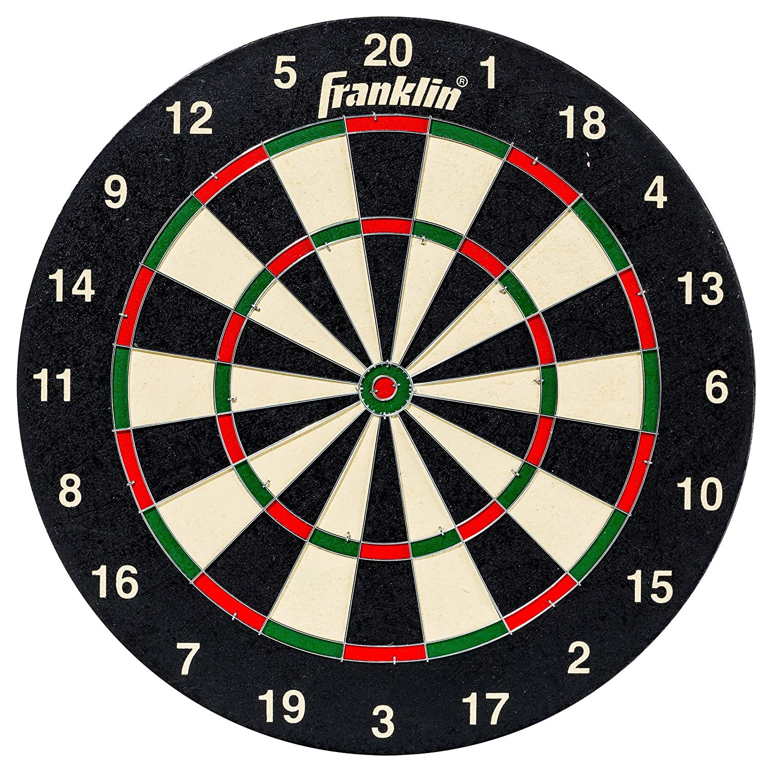 Franklin 18-inch Deluxe Bristle Dartboard with Printed Number Ring