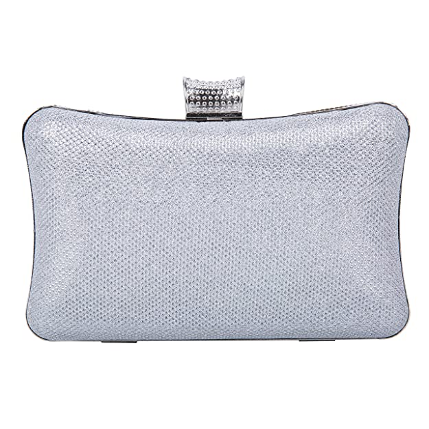 Amazon.com: Tanpell Womens Rhinestone Evening Bag Crystal Clutches Bags Wedding Purse with Detachable Chain Silver: Computers & Accessories
