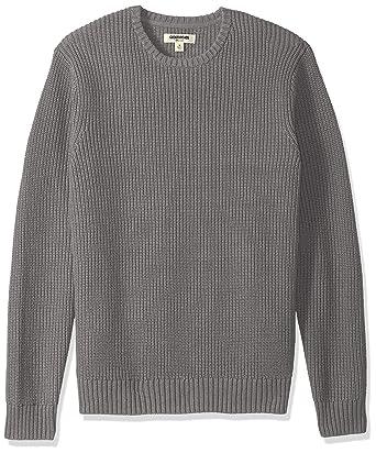 5214962111 Goodthreads Men s Standard Soft Cotton Rib Stitch Crewneck Sweater