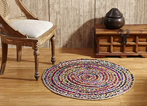 Better Trends Astoria Braid Collection is Durable Mildew Moisture Resistant Reversible Indoor Area Utility Rug 100 Jute