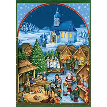 coppenrath unique traditional advent christmas calendar premium made in germany quaint german christmas village