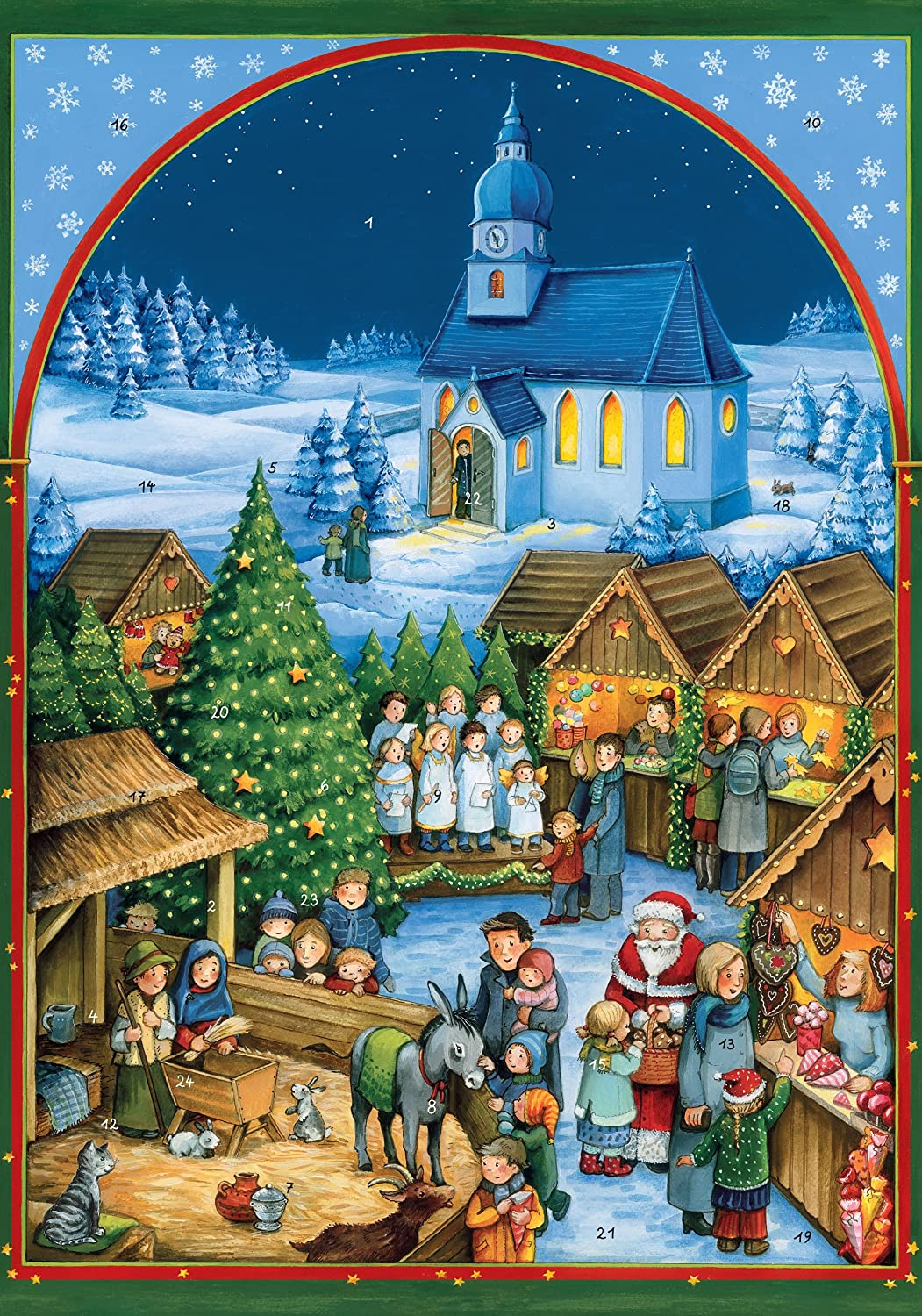Christmas Village In Germany.Coppenrath Unique Traditional Advent Christmas Calendar Premium Made In Germany Quaint German Christmas Village Market